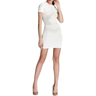 French Connection Montana White Perforated Dress