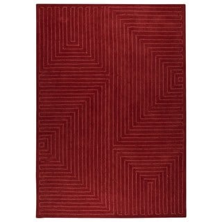 M.A. Trading Hand-tufted Indo Toledo Red Rug (8'3 x 11'6)