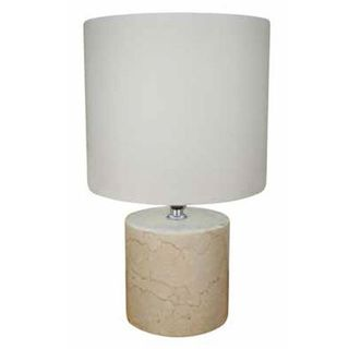 Zima 5-inch White Marble Table Lamp