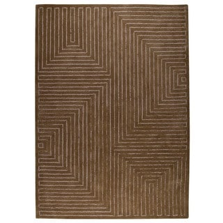 M.A. Trading Hand-tufted Indo Toledo Grey/ Brown Rug (8'3 x 11'6)