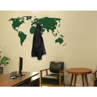 World Map Wall Hanger Decal Vinyl Art Home Decor