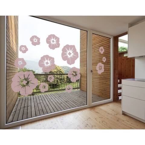 Blossom Mix Window Glass Decal Vinyl Wall Art Home Decor