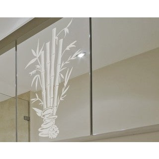 Bamboo Spa Window Glass Decal Vinyl Wall Art Home Decor