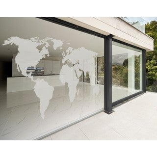 World Map Window Glass Decal Vinyl Wall Art Home Decor