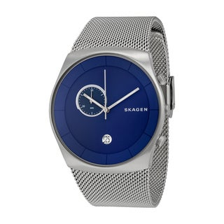 Skagen Men's Stainless Steel Mesh Havene Blue Chronograph Dial Watch