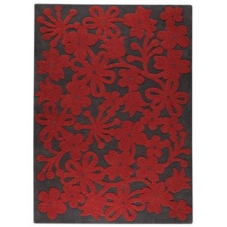 M.A. Trading Hand-tufted Indo Newport Dark Grey Rug (8'3 x 11'6)