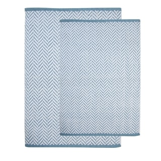 Saffron Fabs Cotton Bath Rug (Set of 2)