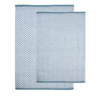 Saffron Fabs Cotton Bath Rug (Set of 2) - 34 x 21 & 36 x 24