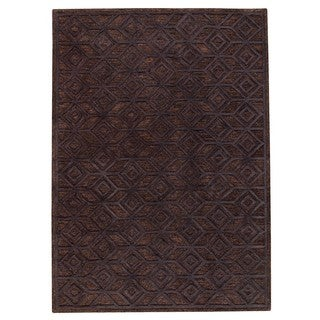 M.A.Trading Hand-Tufted Indo Alhambra Black Rug (5'x8')