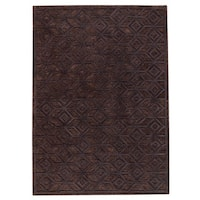 M.A. Trading Hand-tufted Indo Alhambra Black Rug (5' x 8')
