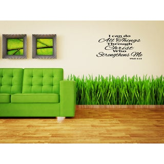 I Can Do All Things Through Christ - Phillippians 413 quote Wall Art Sticker Decal