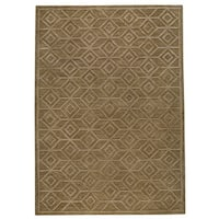 Handmade M.A. Trading Indo Alhambra Brown Rug - 5' x 8' (India)
