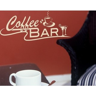 Coffee Bar Vinyl Art Home Decor Wall Decal