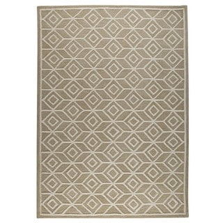 M.A.Trading Hand-Tufted Indo Alhambra Beige Rug (8'x10')
