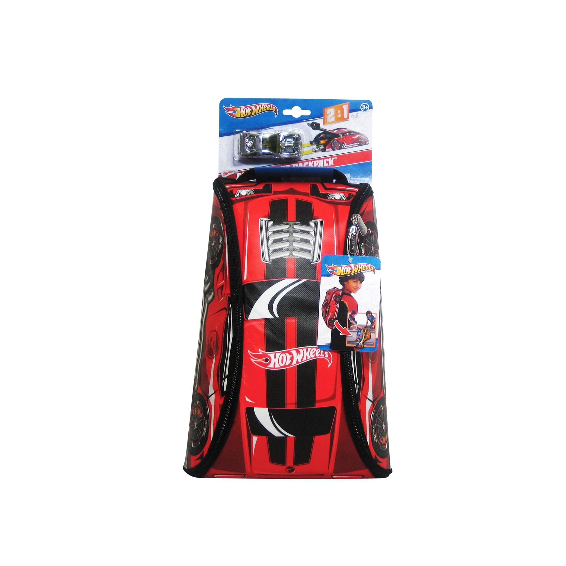 Neat-Oh Hot Wheels ZipBin 45 Car Crash Red Racer Backpack...