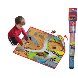 Neat-Oh Full Throttle Construction Zone 2-Sided Playmat with 1 Car