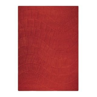 M.A. Trading Hand-tufted Indo Terraza Scarlet Rug (5'6 x 7'10)