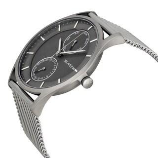 Skagen Men's Stainless Steel Holst Grey Chronograph Dial Watch