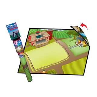 Neat-Oh Farmland 2-Sided Playmat with 2 Toys