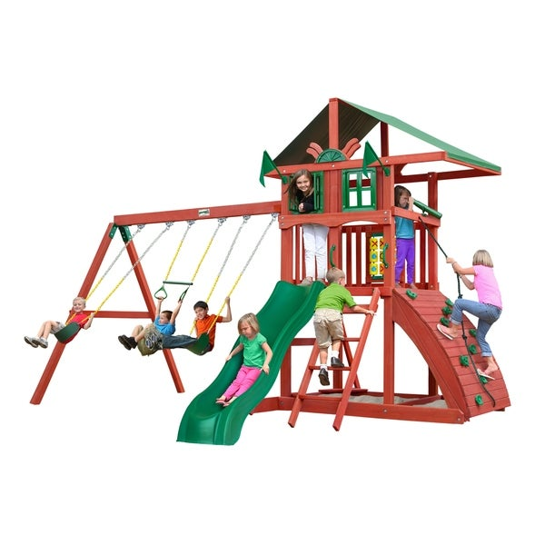 Gorilla Playsets Highcrest Cedar Swing Set - Brown