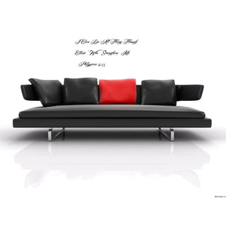 Phrase I Can Do All Things Through Christ - Phillippians 413 Wall Art Sticker Decal