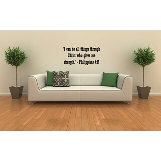 Writing I Can Do All Things Through Christ - Phillippians 413 Wall Art Sticker Decal