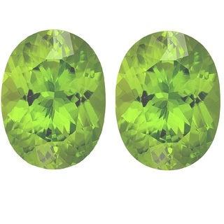 Oval-cut 8x10mm 5..15ct TGW Peridot Gemstones