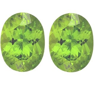 Oval-cut 8x10mm 5..15ct TGW Peridot Gemstones