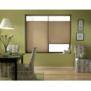 First Rate Blinds Antique Linen 64-64.5-inch Cordless Top Down Bottom Up Cellular Shades