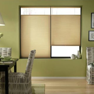 Leaf Gold 64-64.5-inch Cordless Top Down Bottom Up Cellular Shades