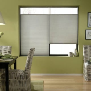 Silver 64-64.5-inch Cordless Top Down Bottom Up Cellular Shades