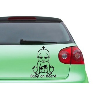 Baby On Board Boy Car Decal Vinyl Wall Art Home Decor