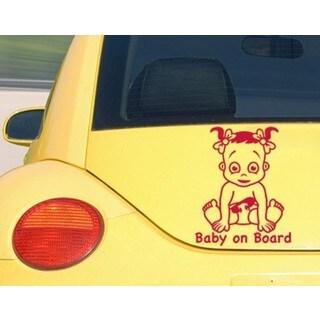 Baby On Board Girl Car Decal Vinyl Wall Art Home Decor