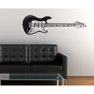 E-guitar Wall Hanger Decal Vinyl Art Home Decor