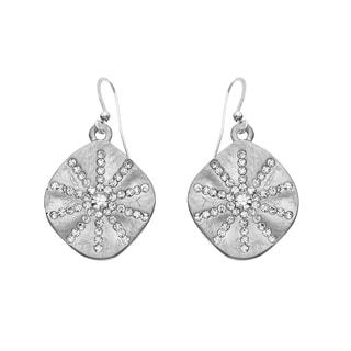 Isla Simone - Silver Tone Crystal Sun Burst Earring