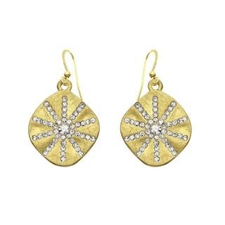 Isla Simone Goldtone Crystal Sunburst Earring