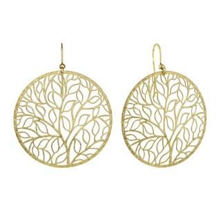 Isla Simone - Gold Tone Giving Tree Earring