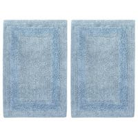 Celebration 2-piece Solid Reversible Bath Mat Set - 17 x 24