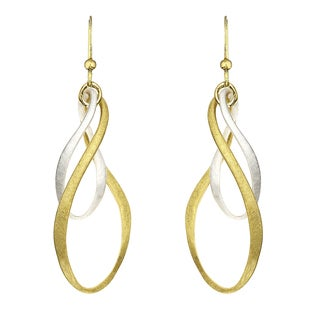 Isla Simone - Two-Tone Bi-Elliptical Large Diamond Cut Earring