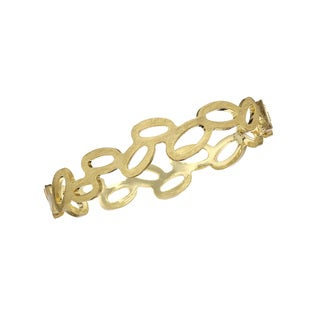 Isla Simone Goldtone Kissing Oval Bangle