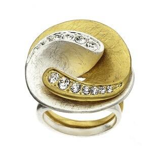 Isla Simone Two-Tone Interlocking Yin Yang Ring