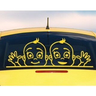 Boys At The Window Car Decal Vinyl Wall Art Home Decor