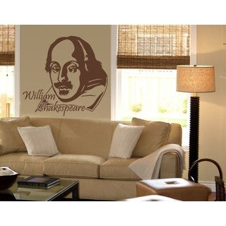 William Shakespeare Wall Decal Vinyl Art Home Decor