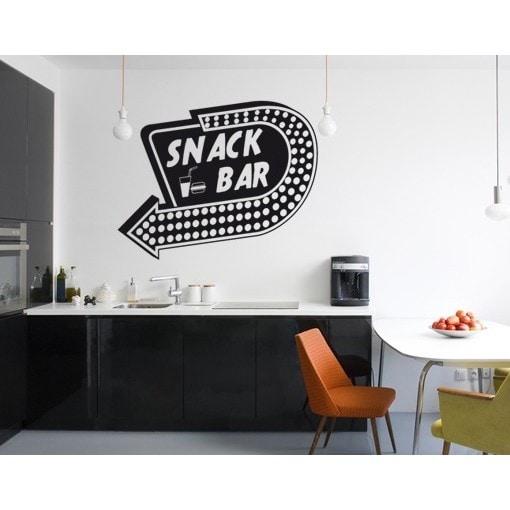 snack bar wall decal vinyl art home decor - Stickers Muraux Design Decoration