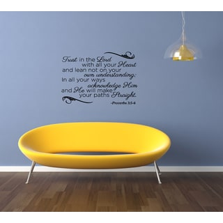 Expression Trust in the Lord - Proverbs 35 Wall Art Sticker Decal