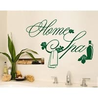 Home Spa Wall Decal Vinyl Art Home Decor