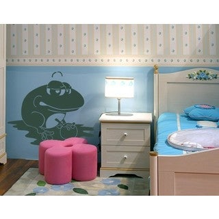 Frog King Wall Decal Vinyl Art Home Decor