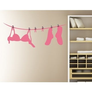 Clothing Line Wall Hanger Decal Vinyl Art Home Decor