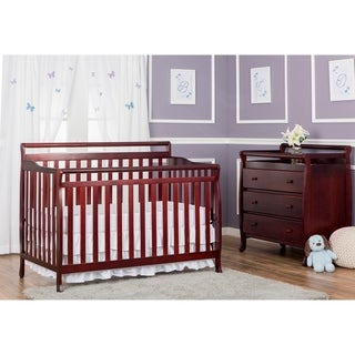 Dream On Me Liberty Cherry 4-in-1 Convertible Crib