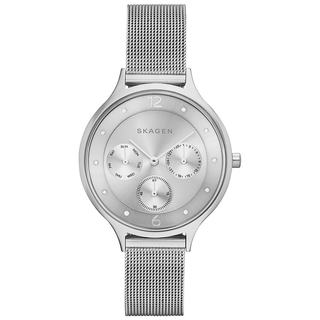 Skagen Women's Stainless Steel Mesh Anita Silver Chronograph Dial Watch